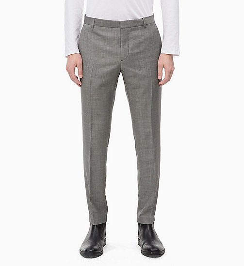 CALVINKLEIN Slim Virgin Wool Trousers - ALLOY - CALVIN KLEIN INVEST IN COLOUR - main image