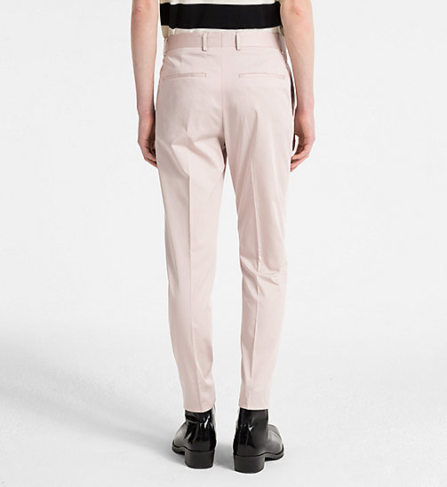 CALVINKLEIN Fitted Cotton Sateen Trousers - ROSE SMOKE - CALVIN KLEIN NEW IN - detail image 1