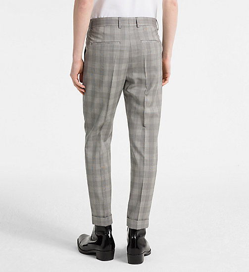 CALVINKLEIN Fitted Wool Check Trousers - ALLOY - CALVIN KLEIN CLOTHES - detail image 1