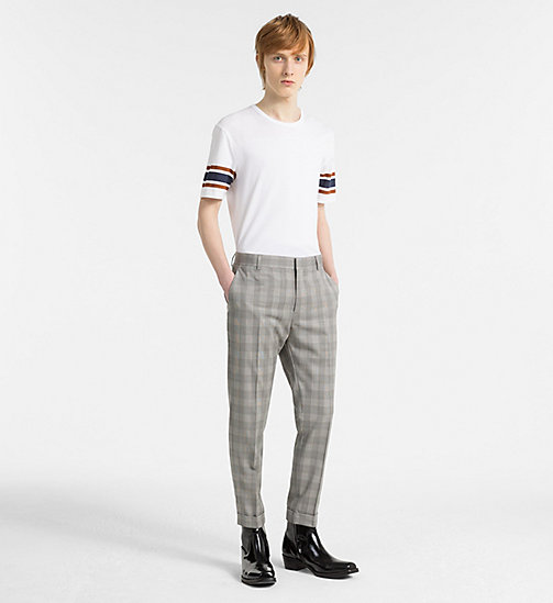 CALVIN KLEIN Fitted Wool Check Trousers - ALLOY - CALVIN KLEIN CLOTHES - detail image 1