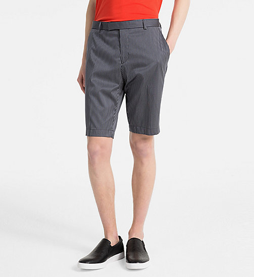 CALVINKLEIN Twill Stripe Shorts - NAVY BLAZER -  GET SMART - main image