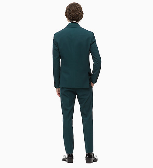 CALVINKLEIN Wool Blend Double-Breasted Suit - PONDEROSA PINE - CALVIN KLEIN INVEST IN COLOUR - detail image 1