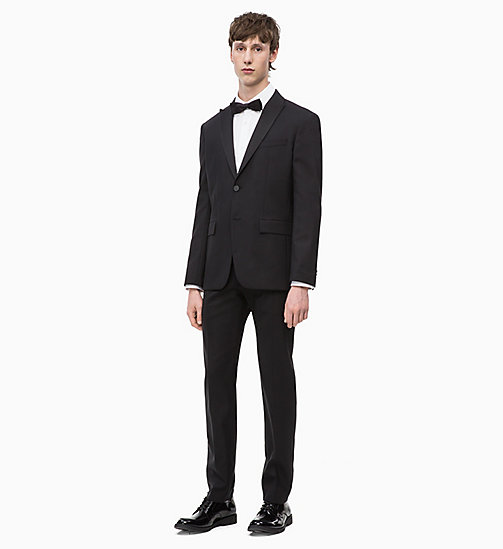 CALVIN KLEIN Virgin Wool Tuxedo Blazer - PERFECT BLACK - CALVIN KLEIN CALVIN KLEIN MENSWEAR - detail image 1