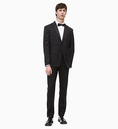 CALVIN KLEIN Virgin Wool Tuxedo Trousers - PERFECT BLACK - CALVIN KLEIN CALVIN KLEIN MENSWEAR - detail image 1