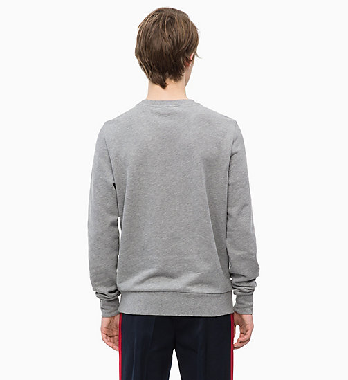 CALVINKLEIN Western Badge Sweatshirt - MID GREY HEATHER - CALVIN KLEIN CALVIN KLEIN MENSWEAR - detail image 1