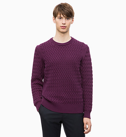 CALVIN KLEIN Cotton Blend Jumper - WINTER BLOOM - CALVIN KLEIN CLOTHES - main image