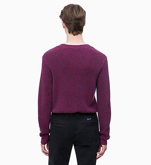 CALVIN KLEIN Mouliné Wool Cotton Jumper - WINTER BLOOM - CALVIN KLEIN CLOTHES - detail image 1