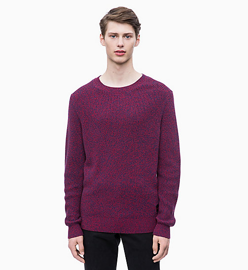 CALVIN KLEIN Mouliné Wool Cotton Jumper - WINTER BLOOM - CALVIN KLEIN CLOTHES - main image