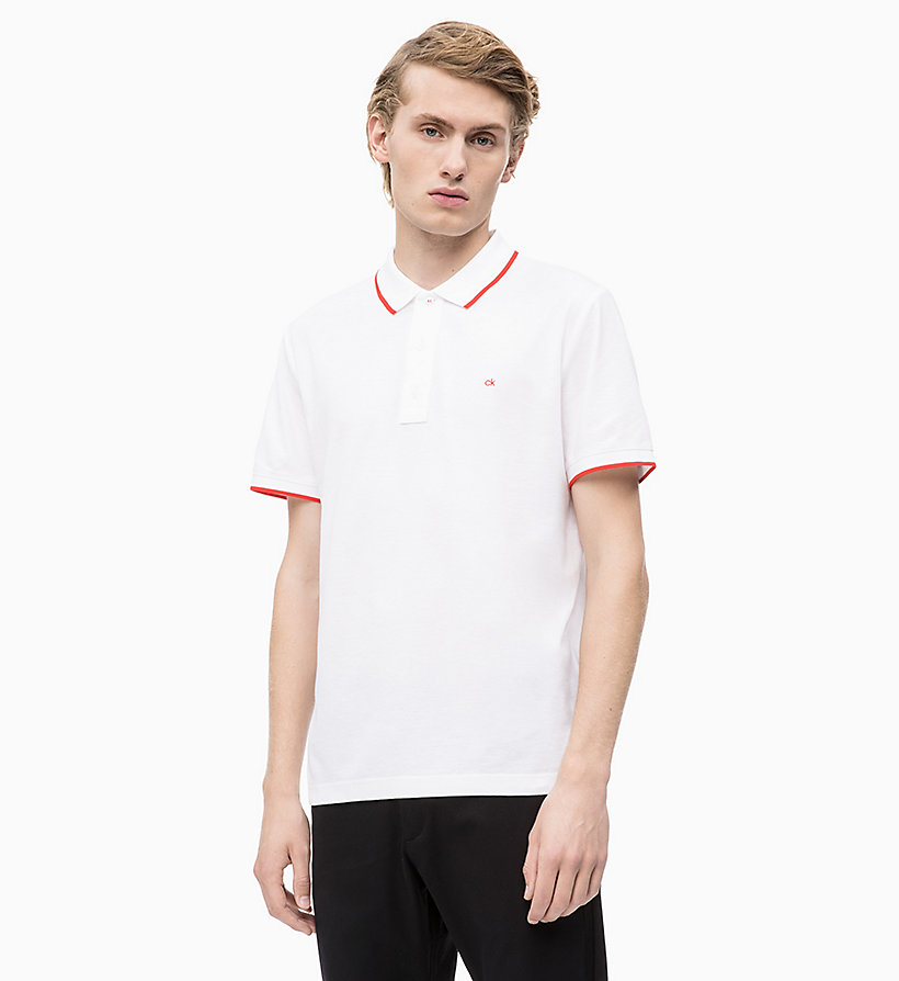 CALVIN KLEIN Piqué Contrast Trim Polo - PERFECT BLACK - CALVIN KLEIN MEN - main image