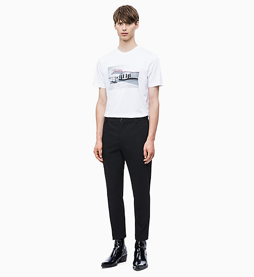 CALVIN KLEIN Футболка с принтом - PERFECT WHITE - CALVIN KLEIN CALVIN KLEIN MENSWEAR - подробное изображение 1
