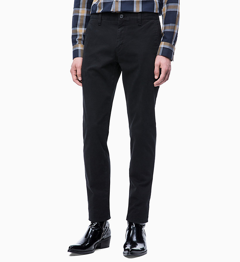 CALVINKLEIN Straight Chino Trousers - DARK OLIVE - CALVIN KLEIN MEN - main image