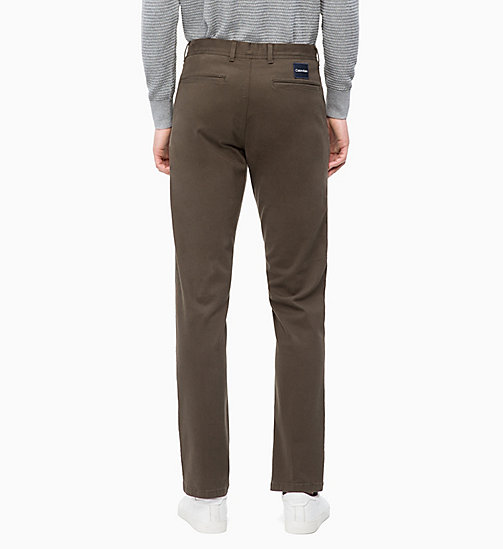 CALVINKLEIN Straight Chino Trousers - DARK OLIVE - CALVIN KLEIN CLOTHES - detail image 1