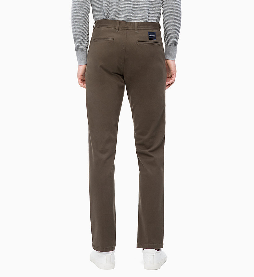 CALVIN KLEIN Straight Chino Trousers -  - CALVIN KLEIN MEN - detail image 1
