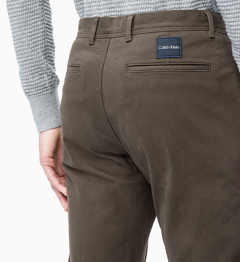 CALVIN KLEIN Straight Chino Trousers -  - CALVIN KLEIN MEN - detail image 2