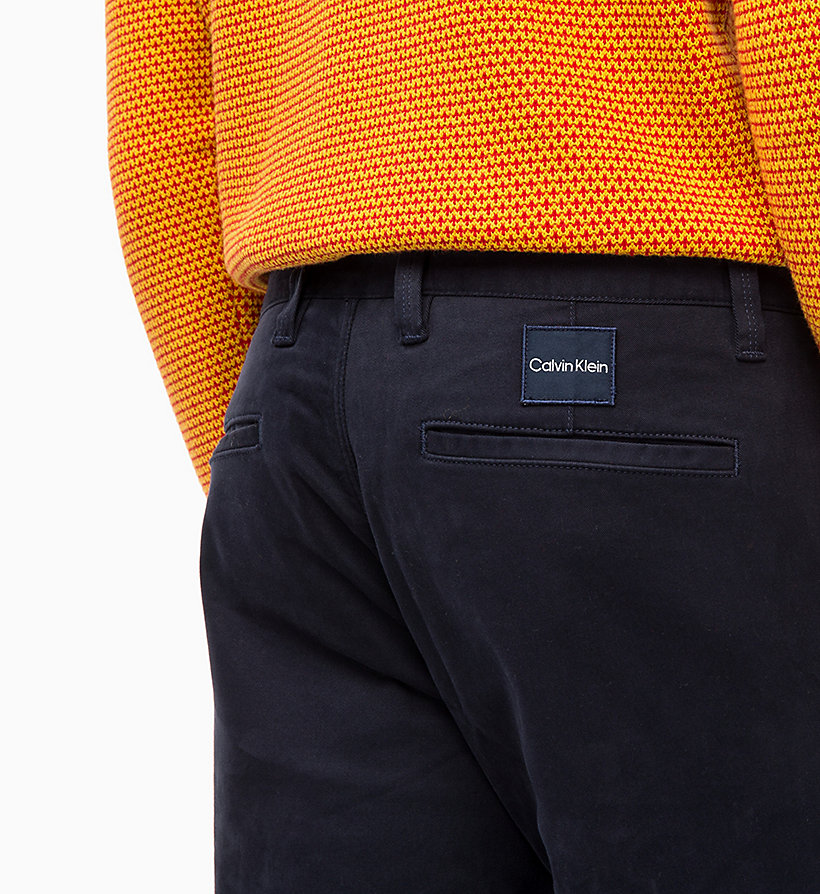 CALVIN KLEIN Straight Chino Trousers - PERFECT BLACK - CALVIN KLEIN MEN - detail image 2
