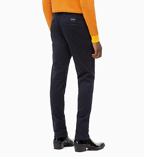 CALVIN KLEIN Straight Chino Trousers - SKY CAPTAIN - CALVIN KLEIN CLOTHES - detail image 1