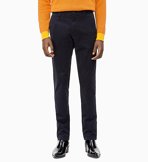 CALVIN KLEIN Straight Chino Trousers - SKY CAPTAIN - CALVIN KLEIN CLOTHES - main image
