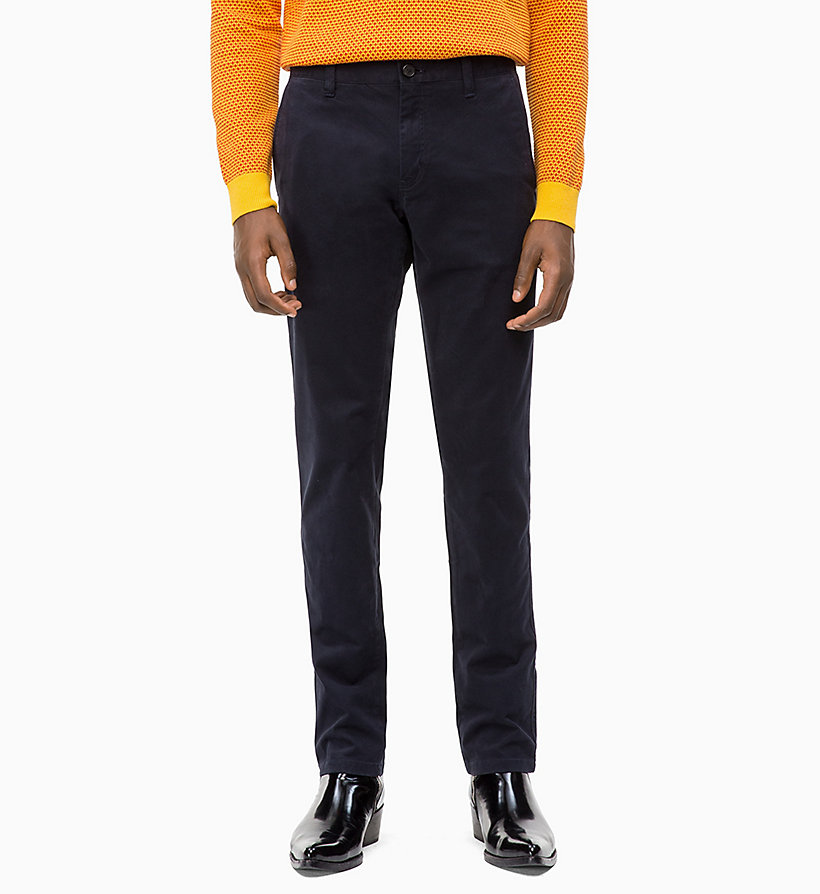 CALVIN KLEIN Straight Chino Trousers - PERFECT BLACK - CALVIN KLEIN MEN - main image