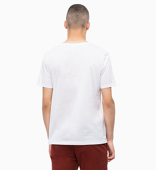 CALVINKLEIN Mercerised Cotton T-shirt - PERFECT WHITE - CALVIN KLEIN INVEST IN COLOUR - detail image 1