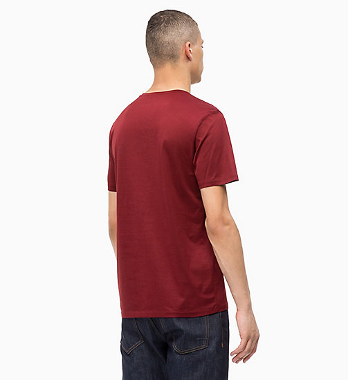 CALVINKLEIN Mercerised Cotton T-shirt - IRON RED - CALVIN KLEIN INVEST IN COLOUR - detail image 1