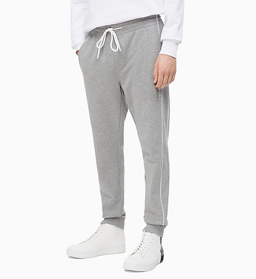 CALVIN KLEIN Side-Stripe Joggers - MID GREY HEATHER - CALVIN KLEIN CALVIN KLEIN MENSWEAR - main image