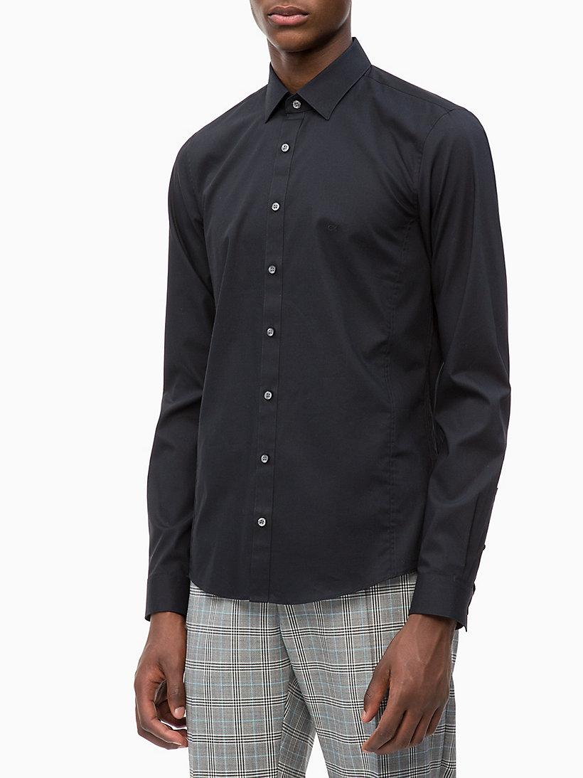 d667214f7b2 Облегающая эластичная рубашка из поплина Calvin Klein®