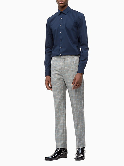 CALVIN KLEIN Extra slim Fit Stretch-Popeline-Hemd - DF MIDNIGHT BLUE - CALVIN KLEIN CALVIN KLEIN MENSWEAR - main image 1