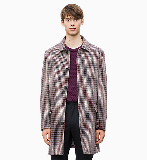 CALVIN KLEIN Wool Blend Check Coat - ALLOY - CALVIN KLEIN CLOTHES - main image