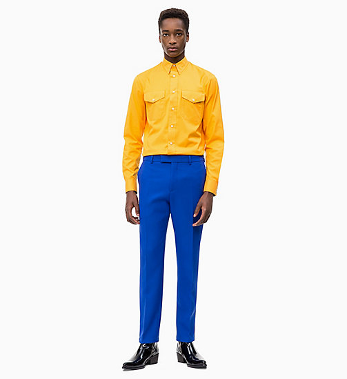 CALVIN KLEIN Fitted Techno Twill Trousers - SODALITE BLUE - CALVIN KLEIN CLOTHES - detail image 1