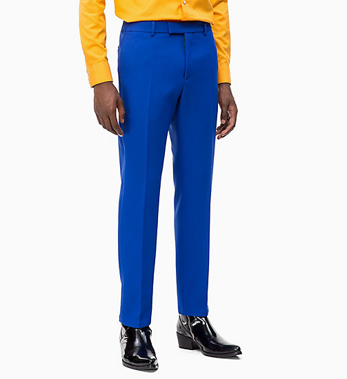 CALVIN KLEIN Fitted Techno Twill Trousers - SODALITE BLUE - CALVIN KLEIN CLOTHES - main image