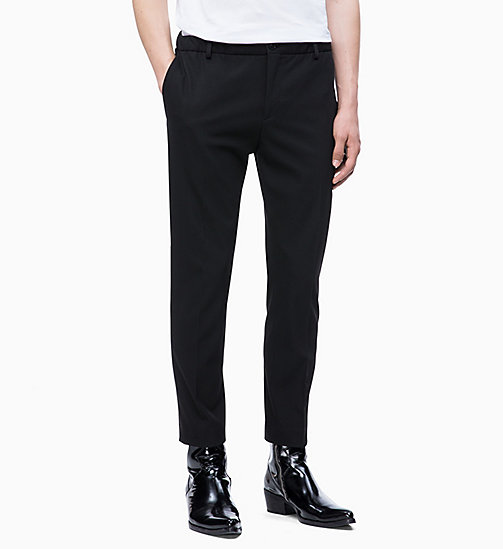 CALVIN KLEIN Techno Gabardine Trousers - PERFECT BLACK - CALVIN KLEIN CLOTHES - main image