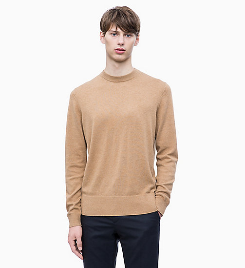 CALVIN KLEIN Wool Cotton Jumper - DULL GOLD - CALVIN KLEIN CLOTHES - main image