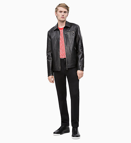 CALVIN KLEIN Nappa Leather Jacket - PERFECT BLACK - CALVIN KLEIN CALVIN KLEIN MENSWEAR - detail image 1
