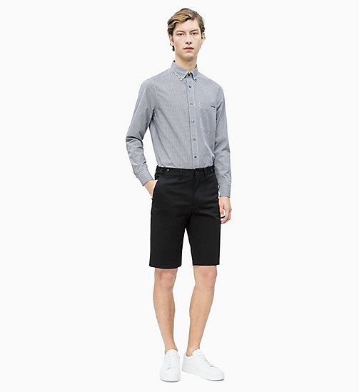 CALVIN KLEIN Cotton Stretch Twill Shorts - PERFECT BLACK - CALVIN KLEIN CALVIN KLEIN MENSWEAR - detail image 1