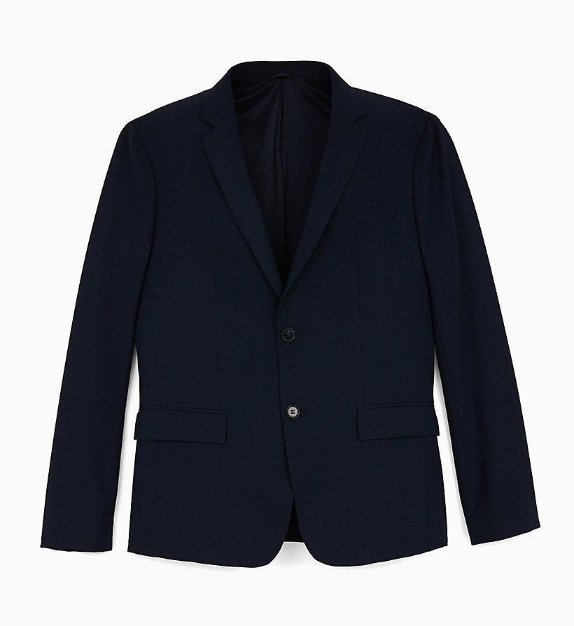 b802dcaa06b2 Blazer slim pied de poule in lana elasticizzata da uomo da uomo Calvin Klein®  | K10K104305407