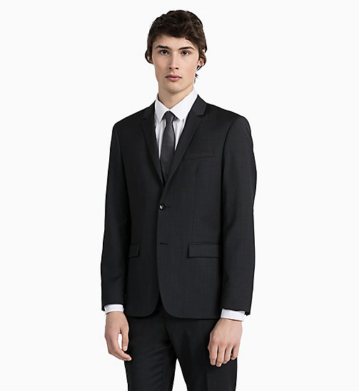 CALVINKLEIN Fitted Textured Wool Blazer - PERFECT BLACK - CALVIN KLEIN GET SMART - detail image 1