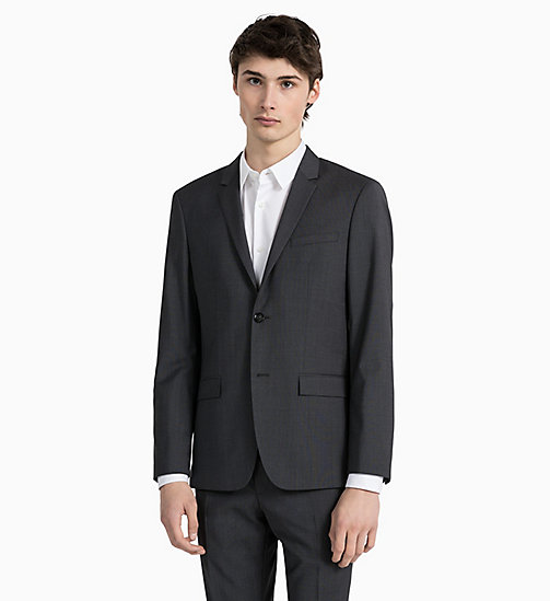 CALVINKLEIN Fitted Textured Wool Blazer - IRON - CALVIN KLEIN GET SMART - detail image 1