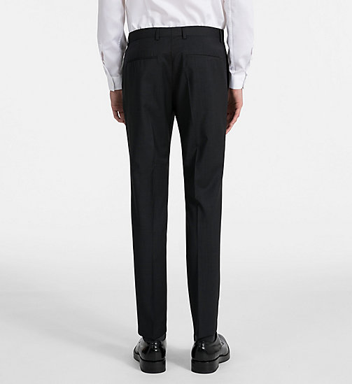 CALVINKLEIN Fitted Textured Wool Trousers - PERFECT BLACK - CALVIN KLEIN GET SMART - detail image 1