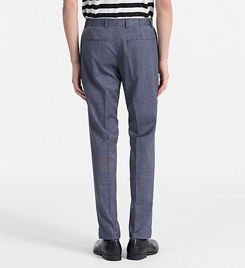 CALVINKLEIN Fitted Textured Wool Trousers - CERULEAN - CALVIN KLEIN CLOTHES - detail image 1