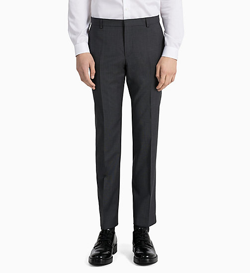 CALVINKLEIN Fitted Textured Wool Trousers - IRON - CALVIN KLEIN GET SMART - detail image 1
