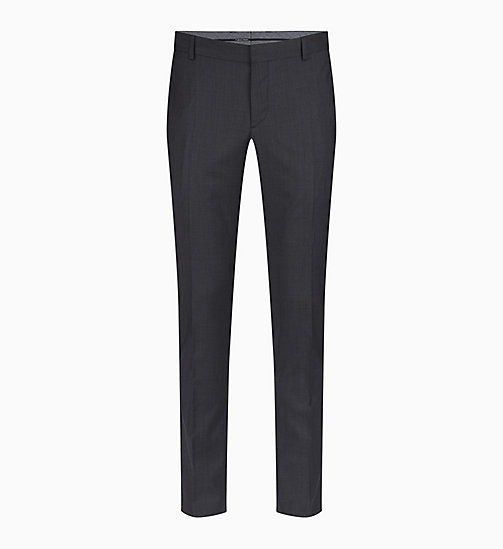 CALVIN KLEIN Fitted Textured Wool Trousers - IRON - CALVIN KLEIN GET SMART - main image