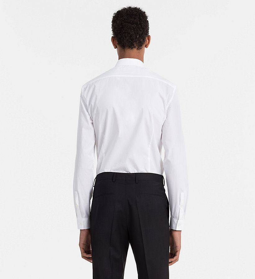 CALVINKLEIN Slim Cotton Stretch Shirt - PERFECT BLACK - CALVIN KLEIN MEN - detail image 2