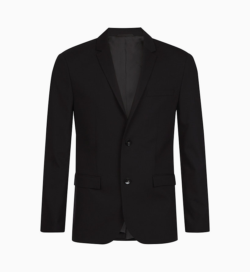 CALVINKLEIN Slim Wool Stretch Blazer - MIDNIGHT NAVY - CALVIN KLEIN MEN - main image