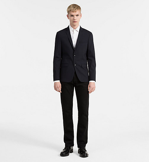 CALVIN KLEIN Slim Wool Stretch Blazer - MIDNIGHT NAVY - CALVIN KLEIN BLAZERS & SUITS - detail image 1