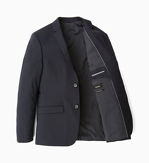 CALVINKLEIN Slim Wool Stretch Blazer - MIDNIGHT NAVY - CALVIN KLEIN BLAZERS & SUITS - main image
