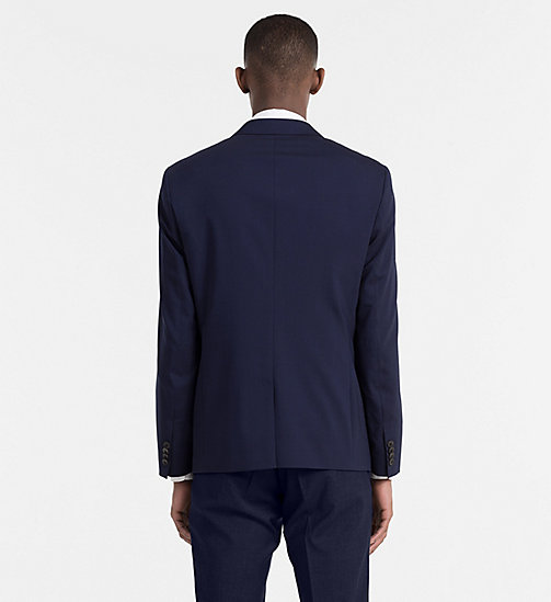 CALVINKLEIN Slim Wool Stretch Blazer - DEEP INK - CALVIN KLEIN BLAZERS & SUITS - detail image 1
