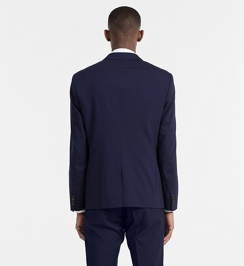 CALVINKLEIN Slim Wool Stretch Blazer - PERFECT BLACK - CALVIN KLEIN MEN - detail image 1