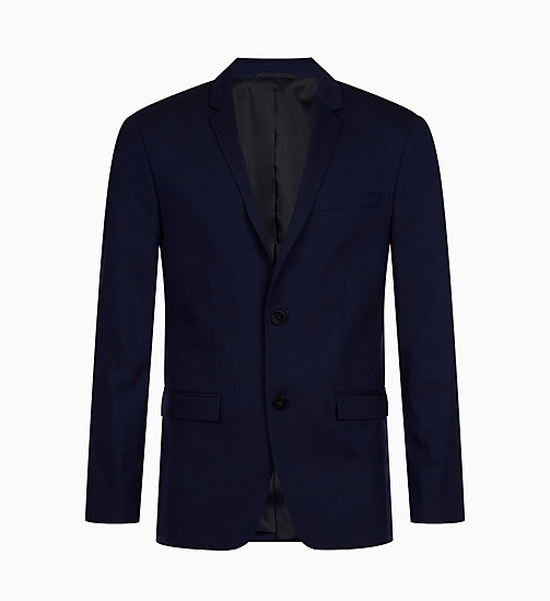 CALVIN KLEIN Slim Wool Stretch Blazer - DEEP INK - CALVIN KLEIN BLAZERS & SUITS - main image