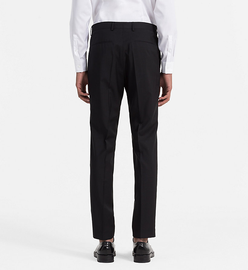 CALVIN KLEIN Fitted Refined Wool Trousers - ASPHALT - CALVIN KLEIN MEN - detail image 1
