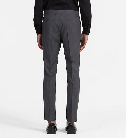 CALVINKLEIN Fitted Refined Wool Trousers - ASPHALT - CALVIN KLEIN TROUSERS & SHORTS - detail image 1